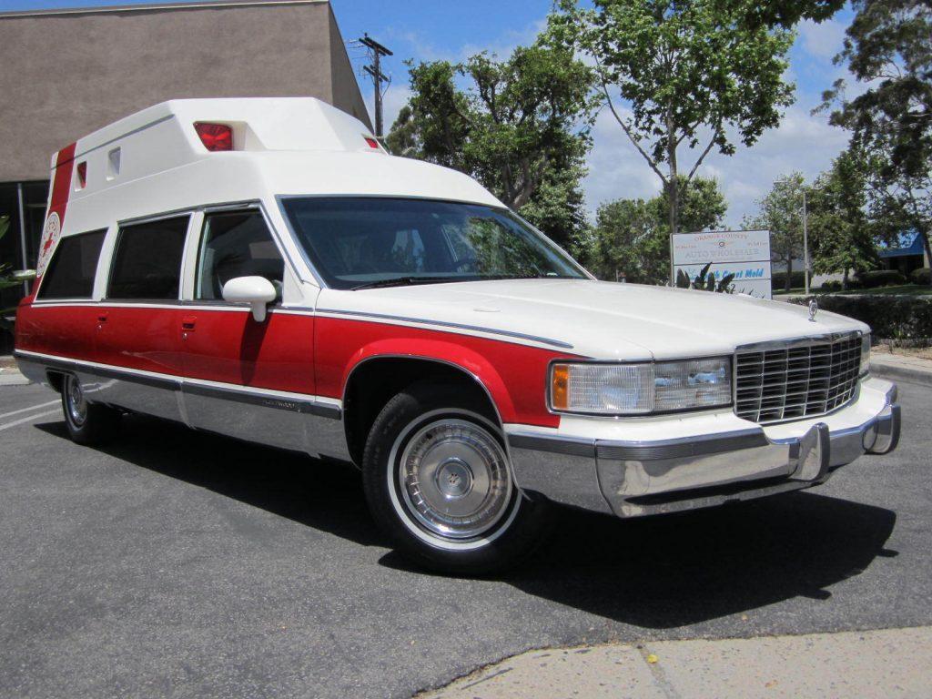 rare 1993 Cadillac Fleetwood hearse for sale