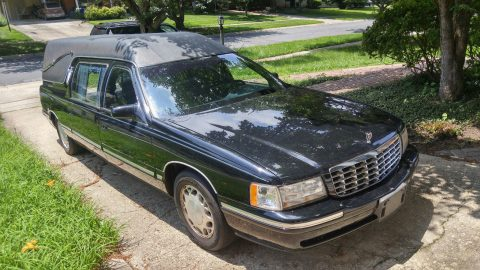 runs great 1998 Cadillac DeVille hearse for sale