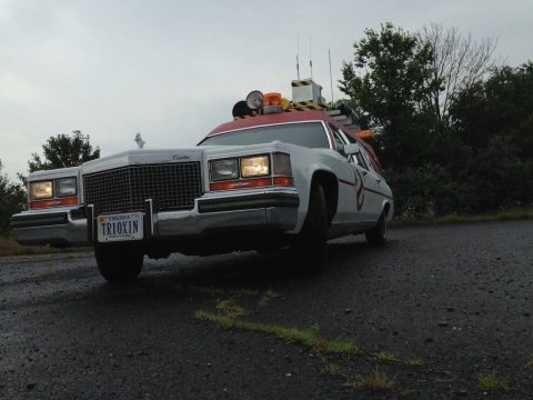 ghost busters 1987 Cadillac Fleetwood Hearse for sale