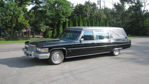 not original color 1976 Cadillac Sayers & Scovill Centennial Victoria Hearse for sale