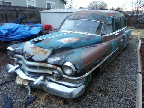 solid 1952 Cadillac Miller Meteor Hearse for sale