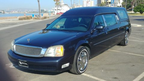 pristine 2002 Cadillac Fleetwood DTS hearse for sale