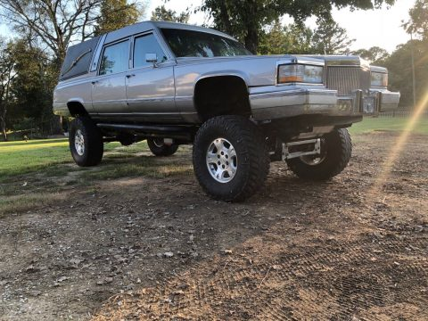 custom lifted 1991 Cadillac Brougham hearse for sale