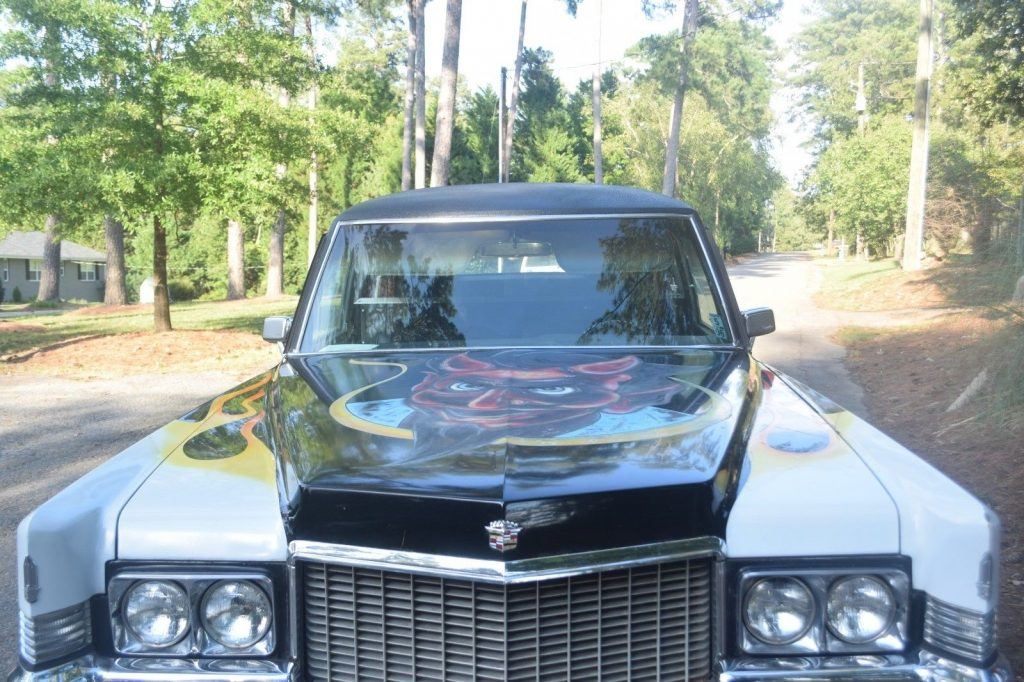 customized 1970 Cadillac Fleetwood M+M hearse