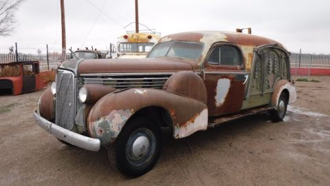 barn find 1938 Cadillac Lasalle S & S Hearse for sale