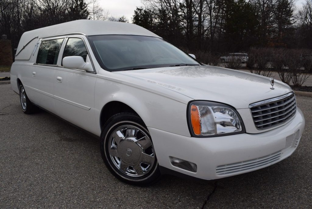 low miles 2004 Cadillac Deville Hearse