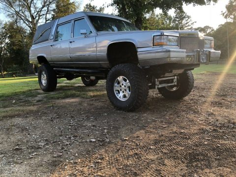 custom 1990 Cadillac Brougham by Superior 4×4 Hearse for sale