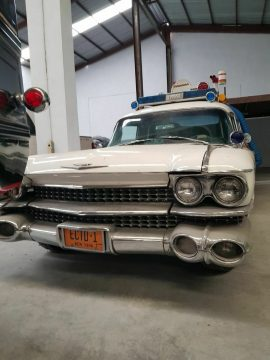 ecto 1 conversion 1960 Cadillac Fleetwood Miller Meteor Ambulance hearse for sale