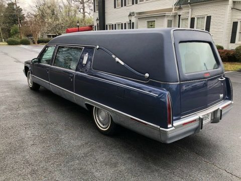 very clean 1996 Cadillac Fleetwood S&S Masterpiece Hearse for sale