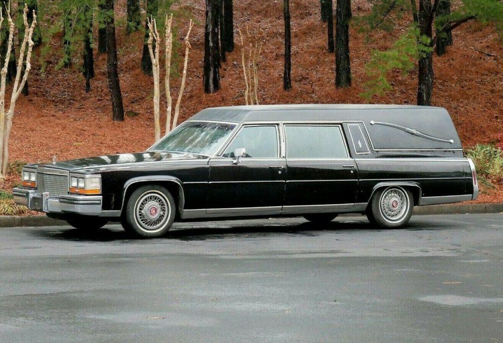 good shape 1987 Cadillac Brougham hearse