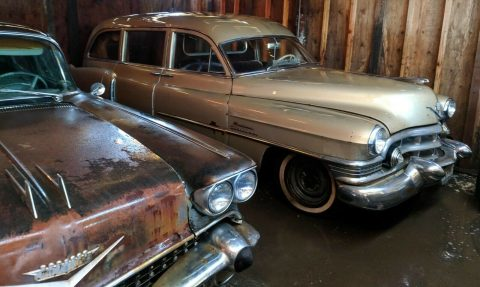 needs work 1951 Cadillac hearse for sale