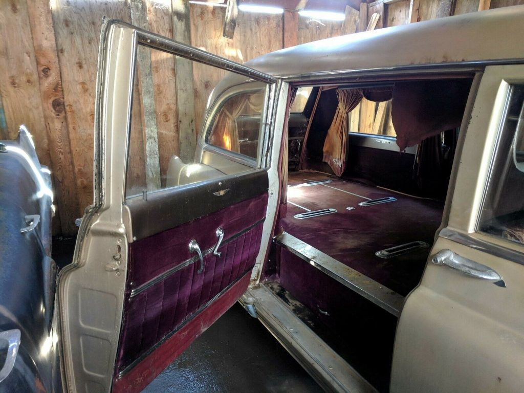 needs work 1951 Cadillac hearse