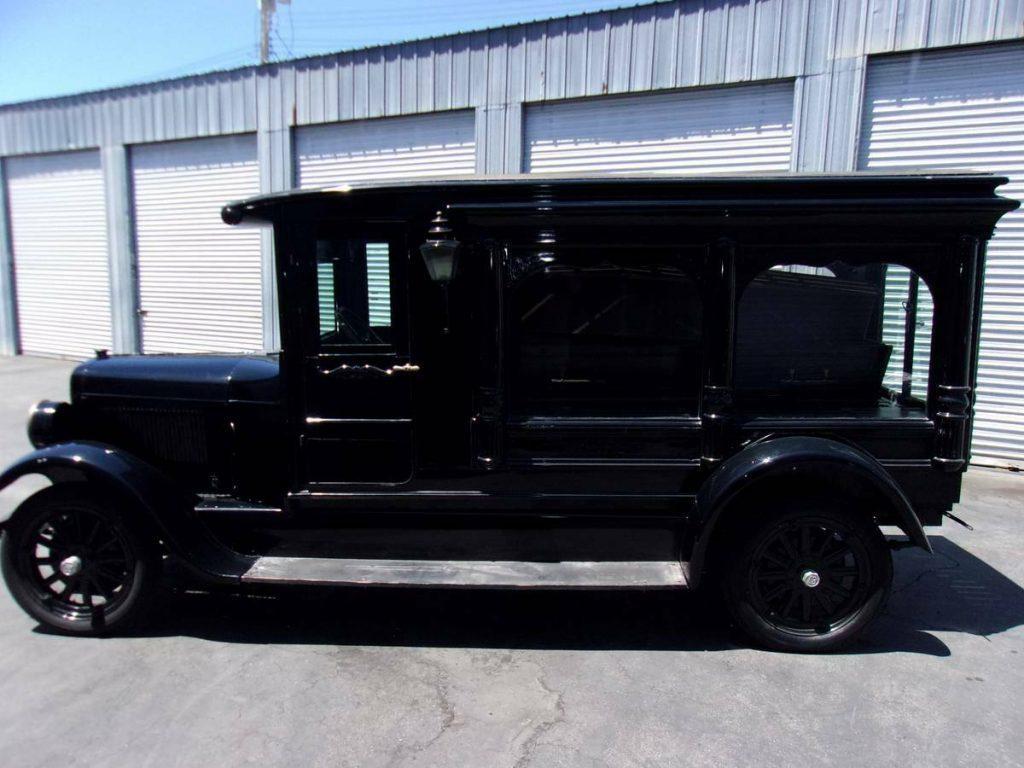 restored 1927 Dodge Pickup hearse