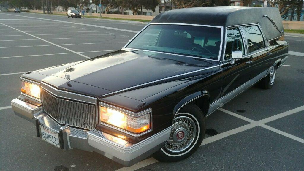 nice 1991 Cadillac Fleetwood hearse