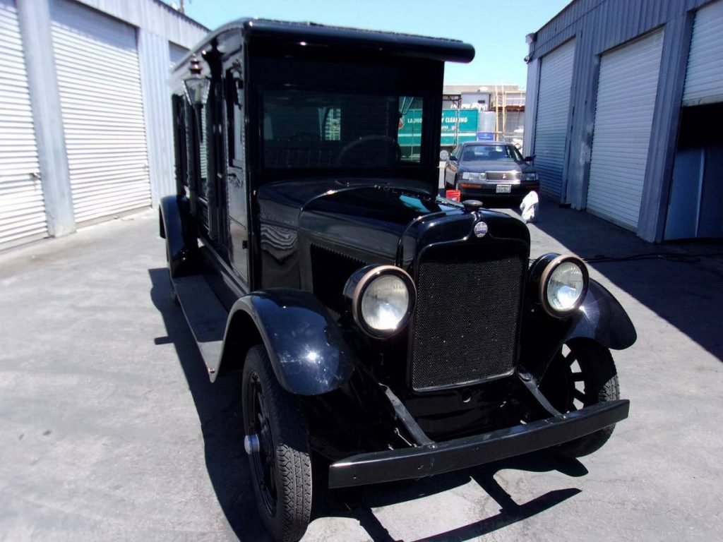 restored 1927 Dodge hearse