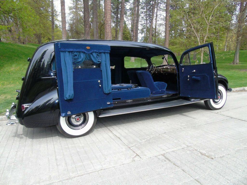 restored 1939 Packard Model 1705 Custom Hearse