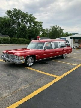 low miles 1974 Cadillac Fleetwood hearse for sale