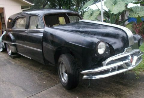 rare 1950 Pontiac hearse for sale