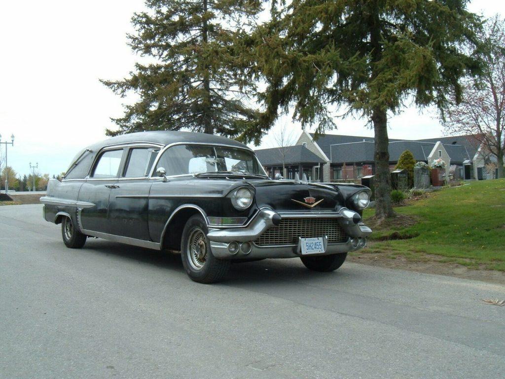 vintage 1957 Cadillac DeVille hearse