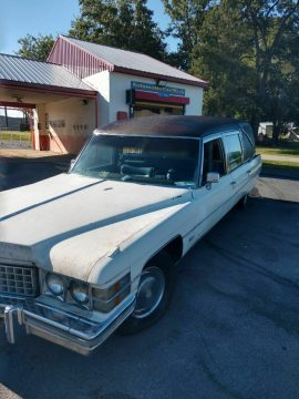 needs TLC 1974 Cadillac Commercial Chassis hearse for sale