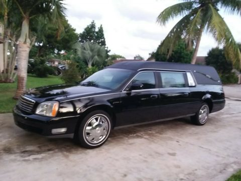 low miles 2003 Cadillac Deville Sayers SCOVILLE hearse for sale
