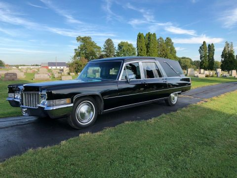 vintage 1970 Cadillac Superior hearse for sale
