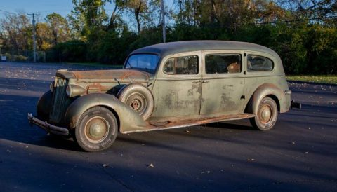 rare 1937 Packard One Twenty Hearse for sale