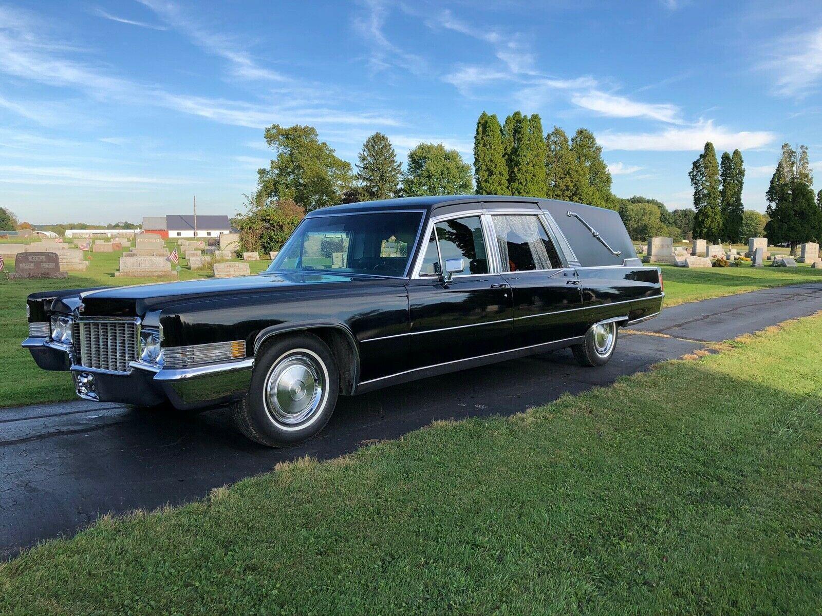 vintage 1970 Cadillac Superior hearse for sale
