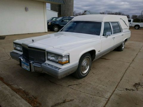 well maintained 1992 Cadillac Brougham hearse for sale
