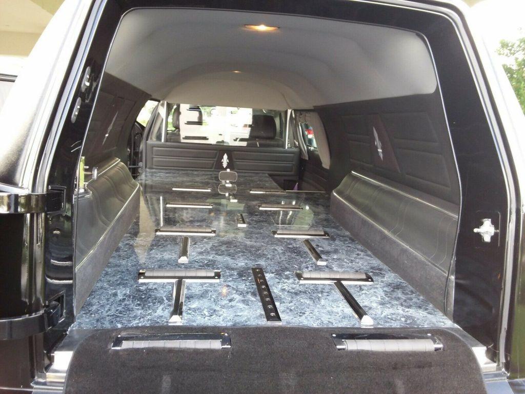 amazing 2010 Cadillac DTS Tuxedo Black Roof hearse