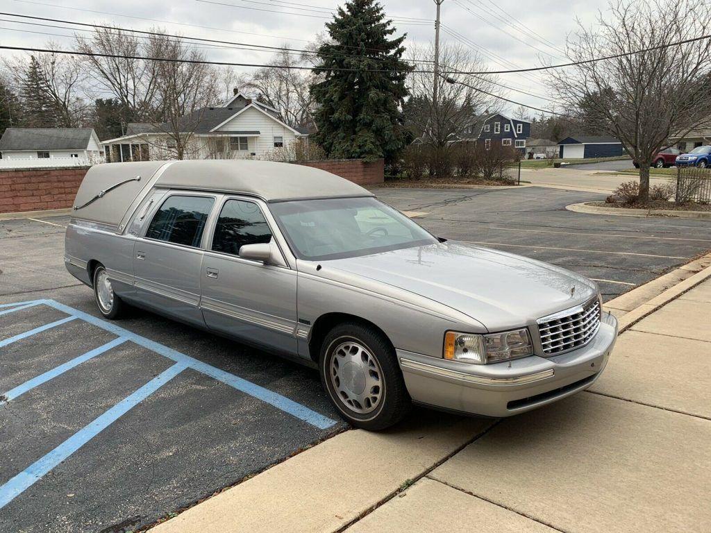 garaged 1999 Cadillac Deville Hearse