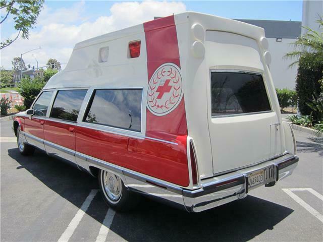 low miles 1993 Cadillac Fleetwood hearse