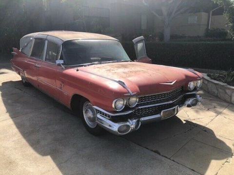 needs TLC 1959 Cadillac Superior Hearse for sale