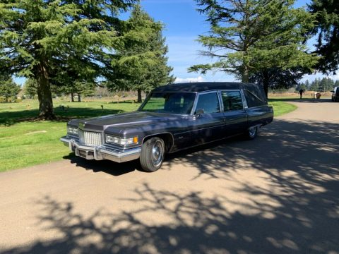very nice 1975 Cadillac Miller Meteor hearse for sale
